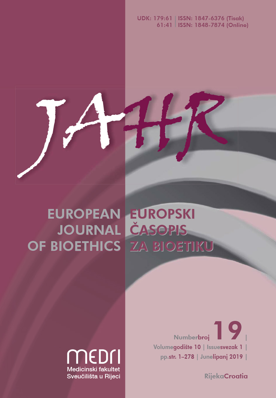 Jahr - European Journal of Bioethics